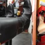 Blokning af sko, støvler og skafter.